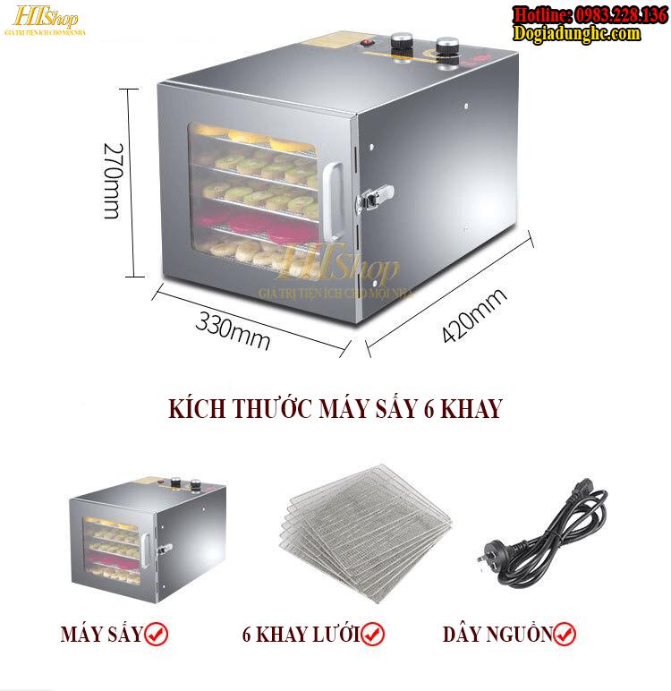 Bộ sản phẩm đầy đủ của máy sấy thực phẩm gia đình