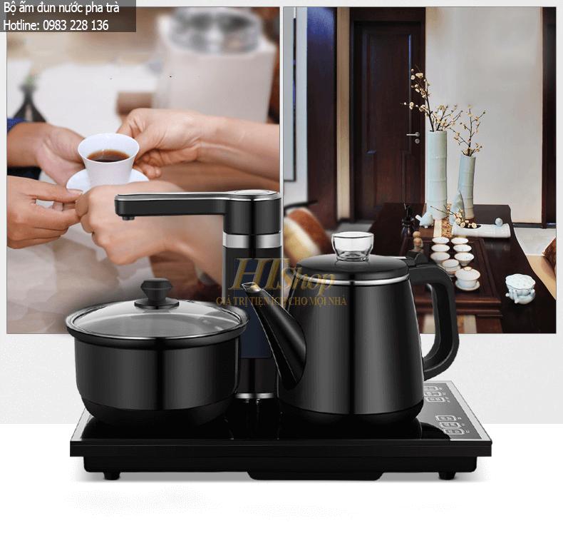bộ ấm đun nước pha trà tự động lấy nước