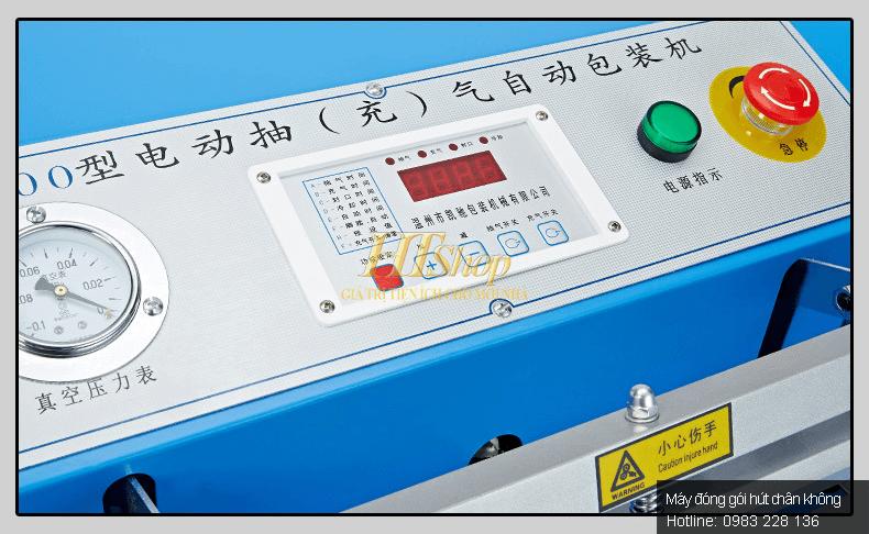 bảng điều khiển của máy hút chân không vòi ngoài