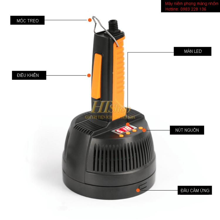 Chi tiết máy dán màng nhôm DL800A