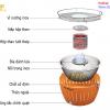 Chi tiết cấu tạo bếp nướng than hoa ngoài trời LG-01