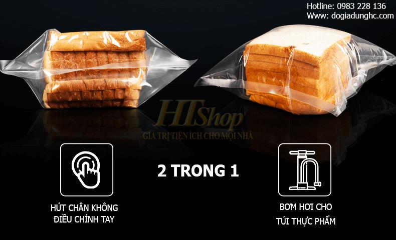 Nâng cấp tính năng bơm hơi và điều chỉnh lực hút bằng tay cho các đồ thực phẩm mềm